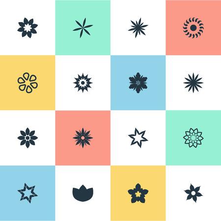 Elementos Pétala, Gerberas, Ranunculus E Outros Sinônimos Crisântemos, Anêmona E Glória. Conjunto de ilustração vetorial de ícones simples flor. Foto de archivo - 85820914