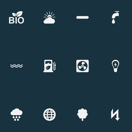 Elements Innovation, Naval, Natural Food And Other Synonyms Forecast, Bio And Earth.  Vector Illustration Set Of Simple Energy Icons.