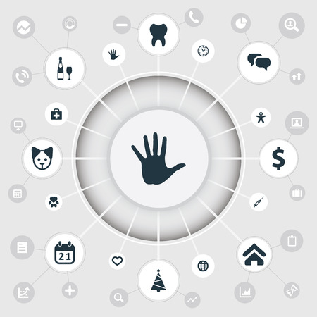 Elements Fir, Alcohol, Footprint And Other Synonyms Date, Conversation And Volunteer.  Vector Illustration Set Of Simple Colony Icons.
