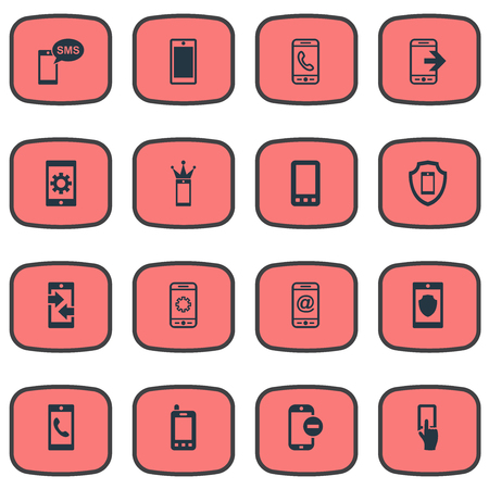 Elements Settings, Communicating, Safeguard And Other Synonyms Settings, Crown And Incoming.  Vector Illustration Set Of Simple  Icons.
