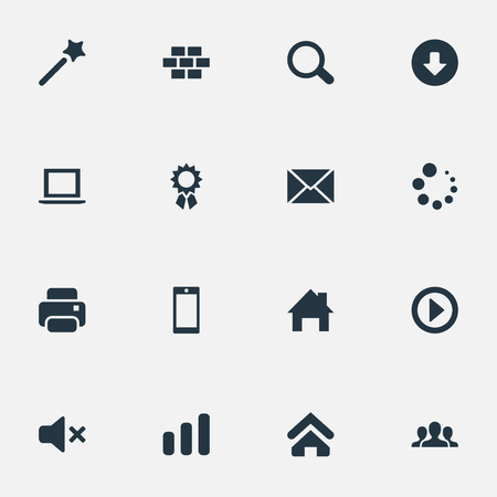 Vector Illustration Set Of Simple Design Icons. Elements Home Pin, Team, Play And Other Synonyms Champion, Bricks And Stick.