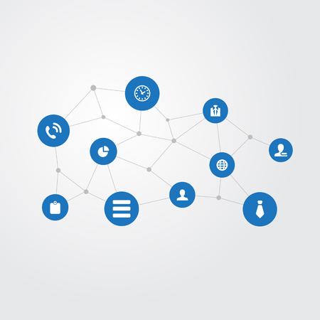 Vector illustratie Set van eenvoudige conferentie iconen. Elementenlijst, planeet, lid en andere synoniemen Menu, wereld en lijst. Stock Illustratie