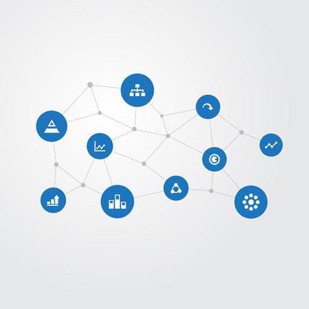 벡터 일러스트 레이 션 간단한 그래프 아이콘의 집합입니다. 요소 데이터, 관계, 단위 및 기타 동의어 구조, 관계 및 차트. 스톡 콘텐츠 - 86553978