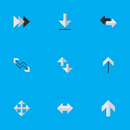 벡터 일러스트 레이 션 간단한 포인터 아이콘의 집합입니다. 요소 가져 오기,로드, 커서 및 기타 동의어 경고, 붐 및 다운로드.