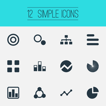 Vector Illustration Set Of Simple  Icons. Elements Component, Data, Cycle And Other Synonyms Data, Menu And Structure.