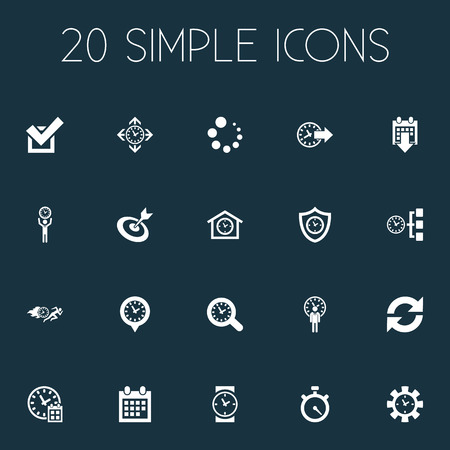 Vector Illustration Set Of Simple Administration Icons. Elements Refresh, Approve, Time Pin And Other Synonyms Calendar, Pin And House.