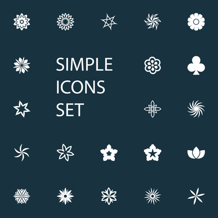 Vector Illustration Set Of Simple  Icons. Elements Flower, Helianthus, Lucky Leaf And Other Synonyms Tulip, Flower And Bouquet. 版權商用圖片