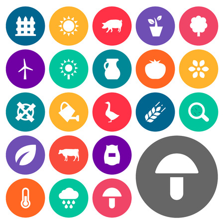 round: Vector Illustration Set Of Simple Energy Icons. Elements Cow, Pitcher, Plant And Other Synonyms Measurement, Firewall And Can.