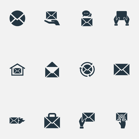 Vector Illustration Set Of Simple Message Icons. Elements Refresh Message, Envelope, Message And Other Synonyms Mail, Chat And Support.