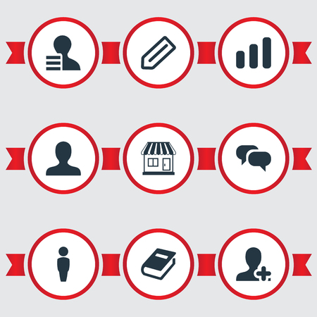 Vector Illustration Set Of Simple Teamwork Icons. Elements Add, Conversation, Communication And Other Synonyms Growth, Book And Info.