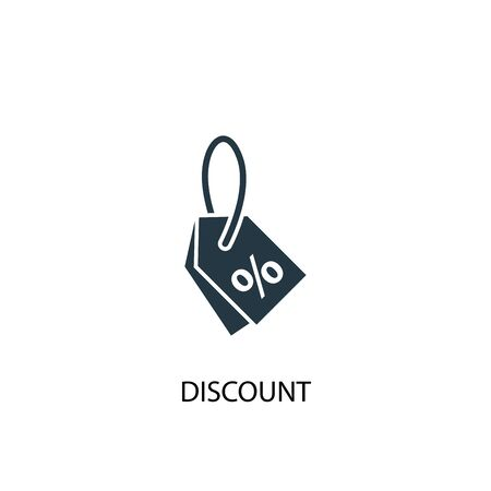 discount icon. Simple element illustration. discount concept symbol design. Can be used for web and mobile.