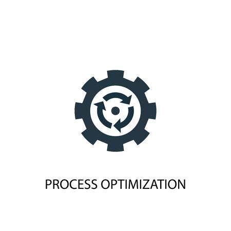 Symbol für die Prozessoptimierung. Einfache Elementabbildung. Prozessoptimierungskonzept Symboldesign. Kann für Web und Mobile verwendet werden. Vektorgrafik