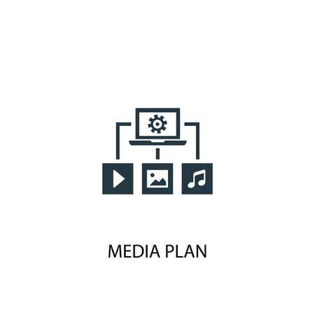 media plan icon. Simple element illustration. media plan concept symbol design. Can be used for web and mobile. Illustration