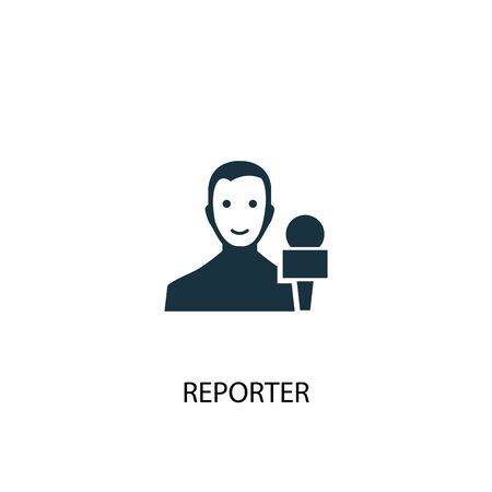 reporter icon. Simple element illustration. reporter concept symbol design. Can be used for web and mobile. Ilustrace