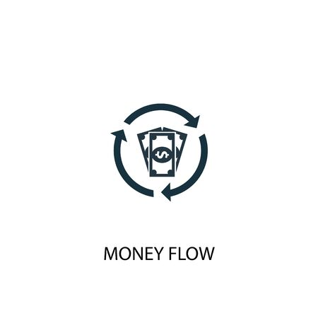 money flow icon. Simple element illustration. money flow concept symbol design. Can be used for web and mobile.