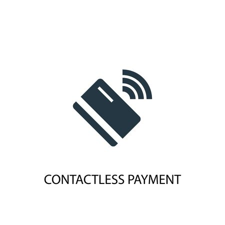 contactless payment icon. Simple element illustration. contactless payment concept symbol design. Can be used for web and mobile. Illusztráció