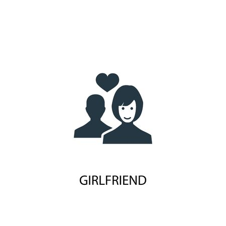 girlfriend icon. Simple element illustration. girlfriend concept symbol design. Can be used for web and mobile.