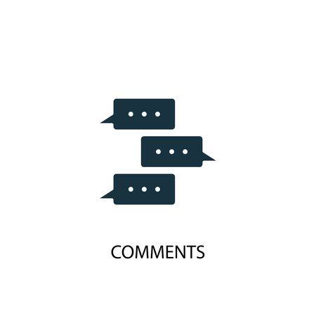 Comments icon. Simple element illustration. Comments concept symbol design. Can be used for web and mobile.