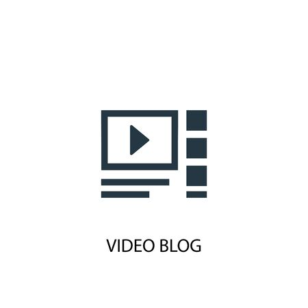 video blog icon. Simple element illustration. video blog concept symbol design. Can be used for web and mobile.