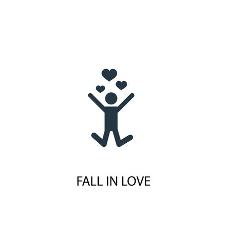 fall in love icon. Simple element illustration. fall in love concept symbol design. Can be used for web and mobile.
