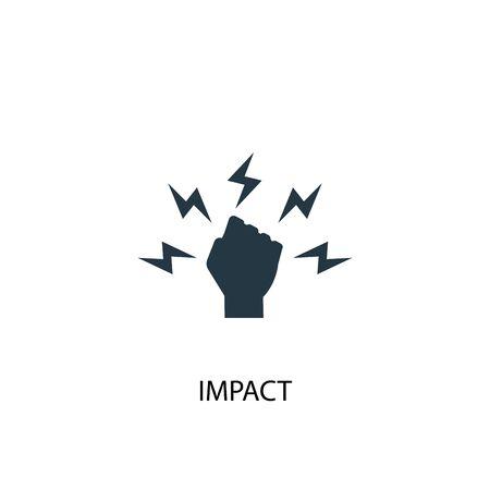 Auswirkungssymbol. Einfache Elementabbildung. Impact-Konzept-Symbol-Design. Kann für Web und Mobile verwendet werden.