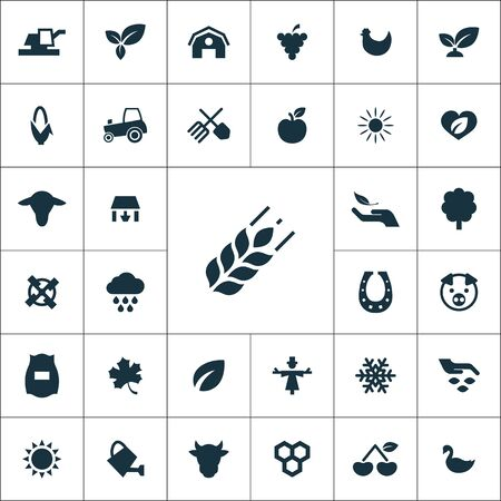 agriculture, farm icons universal set