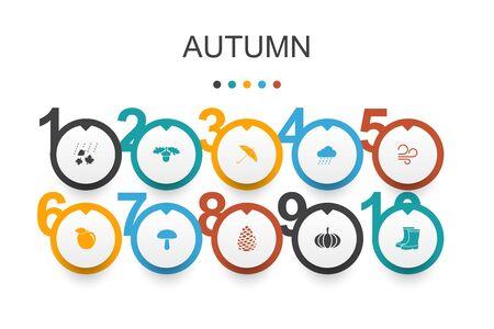Autumn Infographic design template.
