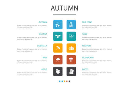 Autumn Infographic 10 option
