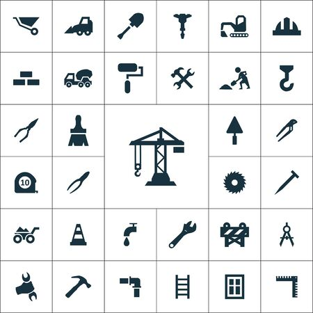 construction icons universal set