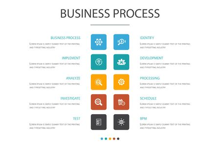 Business process Infographic 10 option concept.  イラスト・ベクター素材