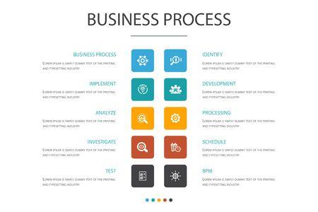 Concept d'option de processus d'affaires Infographie 10.