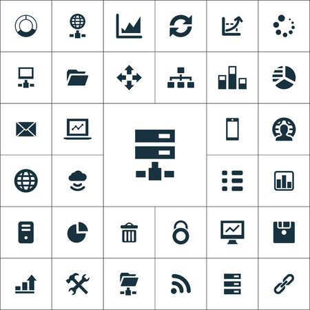 big data, database icons universal set