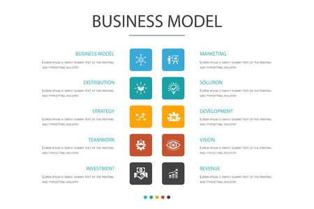 business model Infographic 10 option concept.