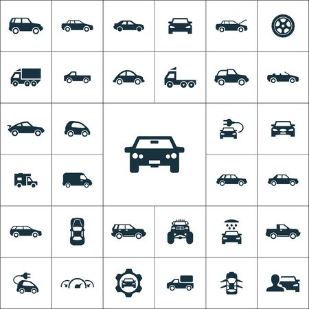 car icons universal set Иллюстрация