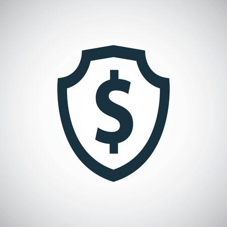 shield dollar icon