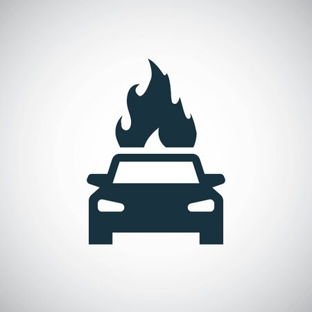 car fire icon Stock Illustratie