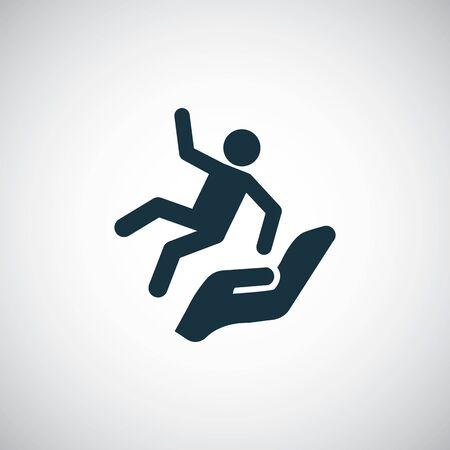 icono de hombre cayendo