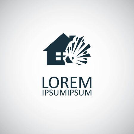 home explosion insurance icon Standard-Bild - 132011934