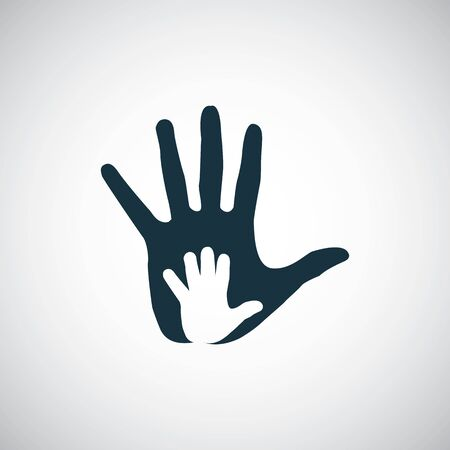 hand palm in palm icon.