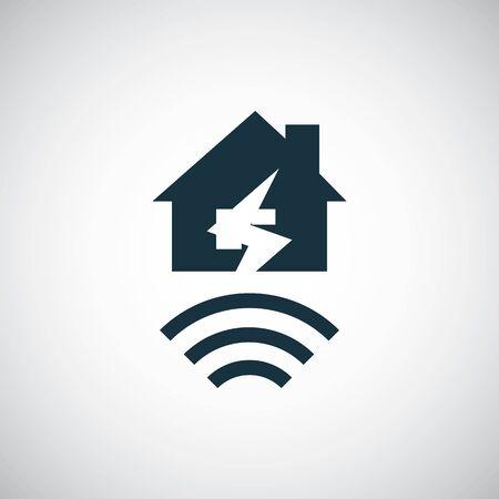 icono de seguro contra terremotos Ilustración de vector