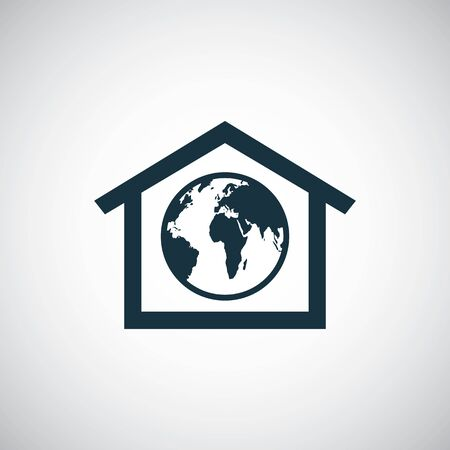 earth in home icon