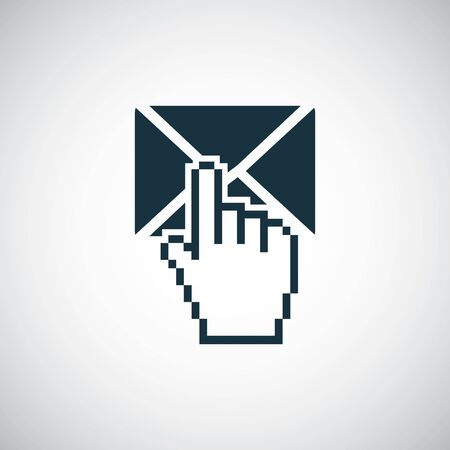 mail select icon trendy simple concept symbol design