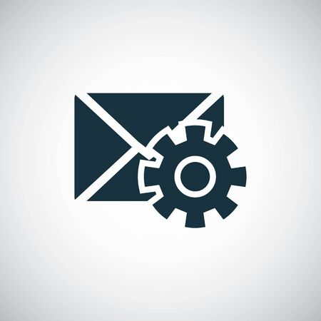 mail setting icon trendy simple concept symbol design Illustration