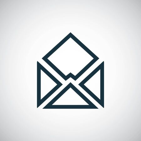 e-mail icon trendy simple concept symbol design