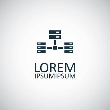 icono de red del servidor. diseño de símbolo de concepto simple de moda Ilustración de vector
