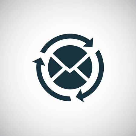 e-mail icon. trendy simple concept symbol design