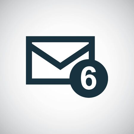 mail new icon simple concept symbol design Illusztráció