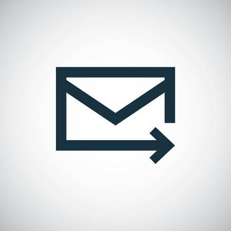 e-mail icon. trendy simple concept symbol design