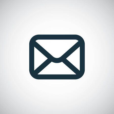 e-mail icon trendy simple concept symbol design Фото со стока - 130160157