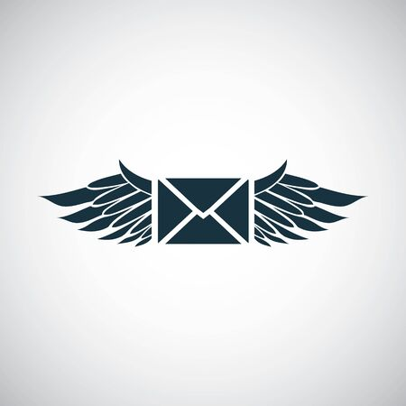mail wings icon trendy simple concept symbol design Ilustração